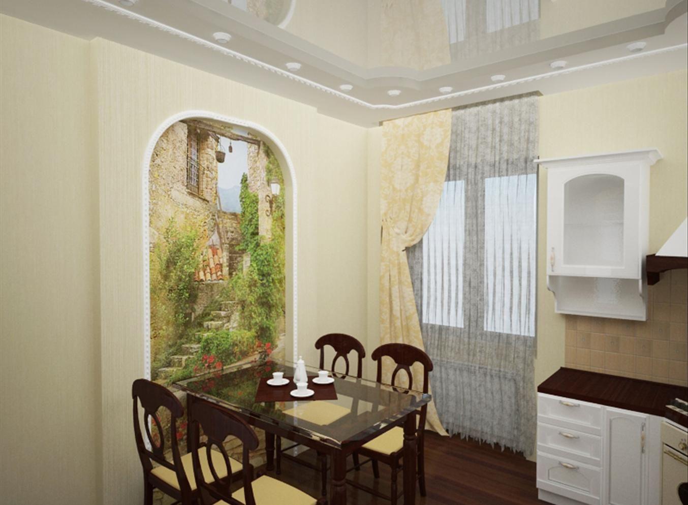 Фрески в интерьере кухни фото