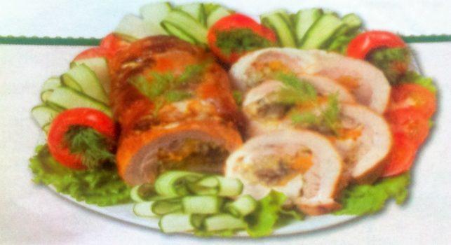 Alt= свиной рулет с овощами